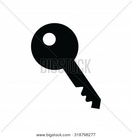 Key Icon Isolated Black On White Background, Home Key Icon Vector Flat Modern,home  Key Icon, Key Ic