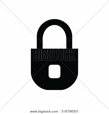 Lock Icon Isolated Black On White Background, Lock Icon Vector Flat Modern, Lock Icon, Lock Icon Eps