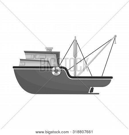 Vector Design Of Ship And Travel Symbol. Set Of Ship And Naval Stock Symbol For Web.
