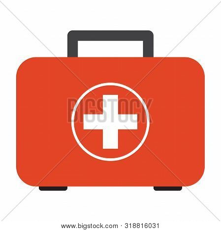 First Aid Safety Box Vector Illustration Design On White Background - Emergency Health Care Kit
