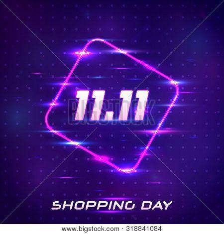 Global Shopping Festival Special Offer Banner. 11.11. November 11 Singles Day Sale. Online Shopping