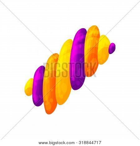 Halloween Candies And Sweets. Cartoon And Flat Style. Vector Illustration Isolated On White Backgrou