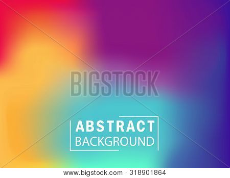 Abstract Colorful Gradient Mesh Background. Wallpaper With Blurred And Bright Color Of Rainbow For L
