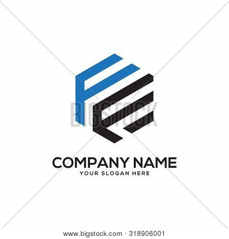 Ff Initial Letter Logo Inspiration, F And F Combination Logo Vector With Hexagonal Idea