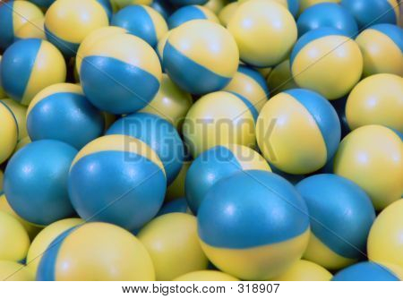 Blue And Yellow Paintballs