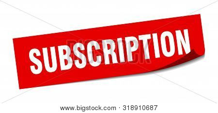 Subscription Sticker. Subscription Square Isolated Sign. Subscription