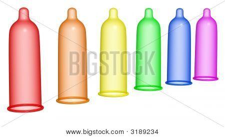Rainbow Condom
