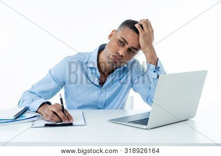 Overwhelmed Desperate Attractive Businessman With Too Much Work Feeling Frustrated And Nervous In Di