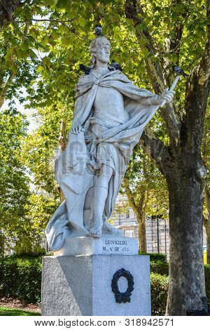 Madrid-september, 13,2017: Statue Of King Leovigilo (toledo) -was King Of The Visigoths From 568 To