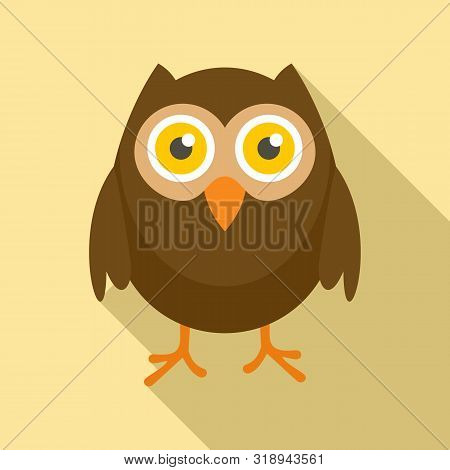 Wise Owl Icon. Flat Illustration Of Wise Owl Vector Icon For Web Design