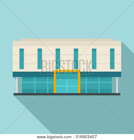 Office Business Mall Icon. Flat Illustration Of Office Business Mall Vector Icon For Web Design