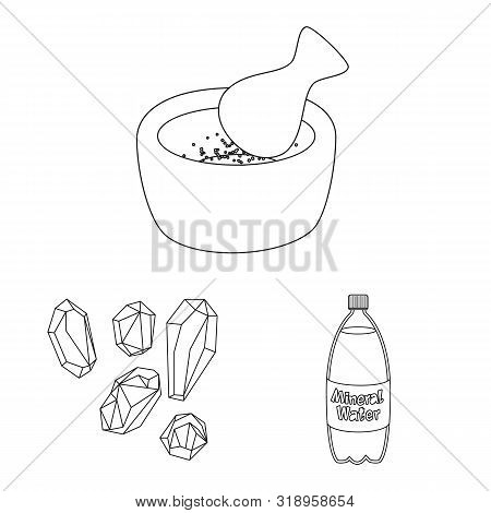 Vector Illustration Of Sodium And Mineral Symbol. Collection Of Sodium And Kitchen Vector Icon For S