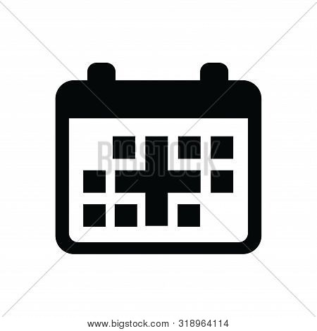 Calender Icon Isolated Black On White Background, Calender Icon Vector Flat Modern, Calender Icon, C