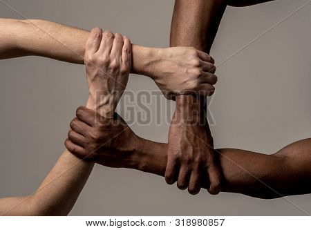 Stop Racism, Conceptual Image Against Intolerance And Discrimination.