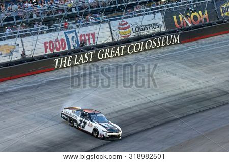 August 16, 2019 - Bristol, Tennessee, USA: John Hunter Nemechek (23) losses control while battling for position for the Food City 300 at Bristol Motor Speedway in Bristol, Tennessee.