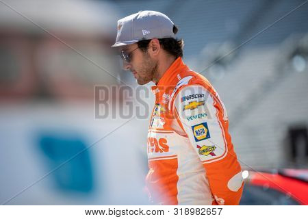 August 16, 2019 - Bristol, Tennessee, USA: Chase Elliott (9) gets ready to practice for the Bass Pro Shops NRA Night Race at Bristol Motor Speedway in Bristol, Tennessee.