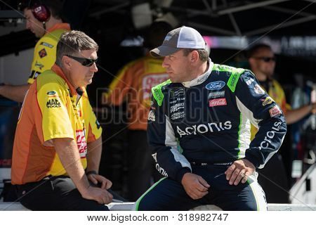 August 16, 2019 - Bristol, Tennessee, USA: Ryan Newman (6) gets ready to practice for the Bass Pro Shops NRA Night Race at Bristol Motor Speedway in Bristol, Tennessee.