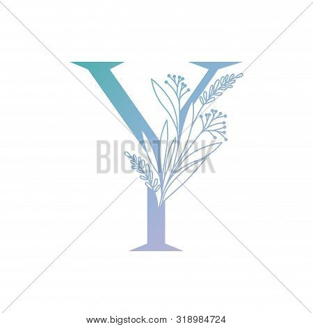 Letter Of The Alphabet With Leaves Vector Illustration Design