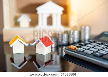Banking Concept. Loan Interest Rate Calculation. Saving Money For Property Investment Or Real Estate
