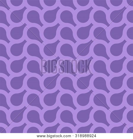 Vector seamless weave geometric pattern. Endless purple background. Creative repetitive design. Bright stylish texture poster