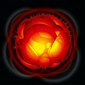 Power explosion. Rasterized version poster