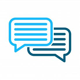 Speech Bubbles Vector Icon Sign. Dialogue Vector Icon. Dialog Vector Icon Sign. Chat Vector Icons Si