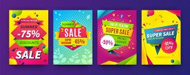 Banner Sale Poster. Promotion Flyer, Discount Voucher Template Special Offer Market Brochure. Vector