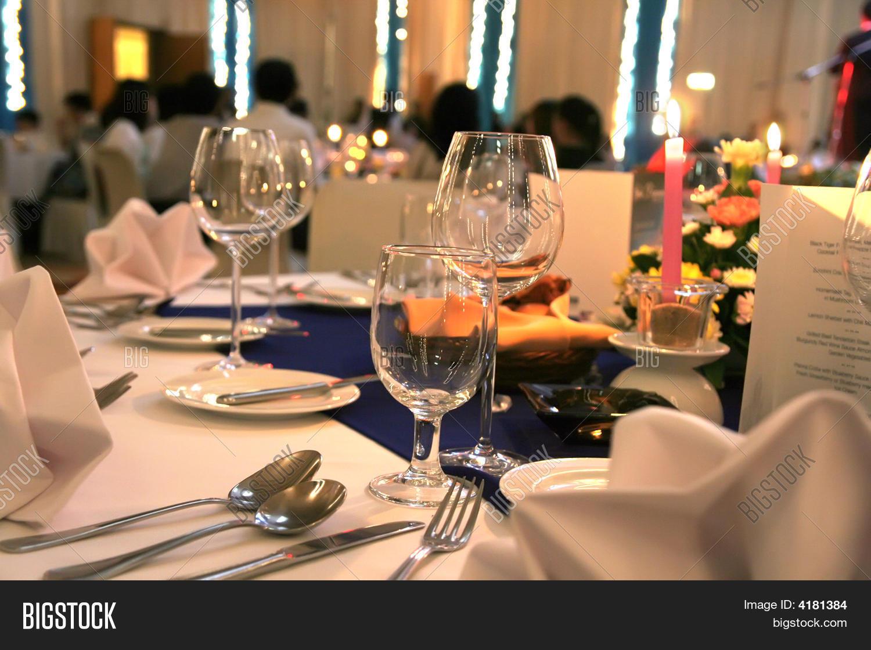 Gala Dinner Table Setup & Gala Dinner Table Setup Image \u0026 Photo | Bigstock