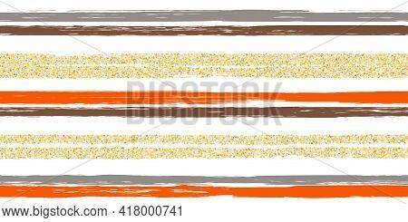 Lines Brushstroke Stripes Summer Seamless Pattern. Linen Shabby Chic Style. Hand Drawn Texture. Summ