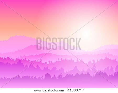 Mountain pink Sunrise