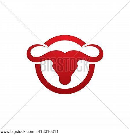 Bull Horn Angry Logo Vector