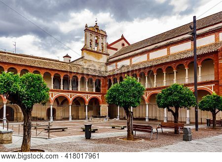 Courtyard San Francisco And Eulogio Church. Cordoba, Andalusia, Spain.