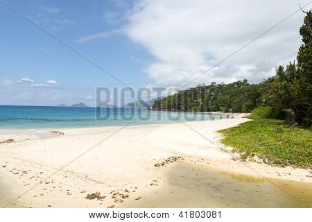 Beach On Praslin Island, Seychelles, Indian Ocean, Africa