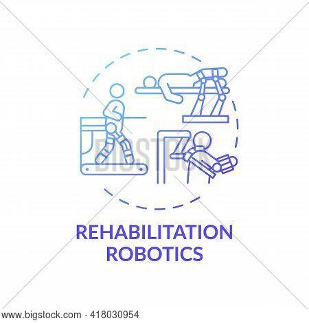 Rehabilitation Robotics Concept Icon. Rehab Engineering Idea Thin Line Illustration. Automatically O