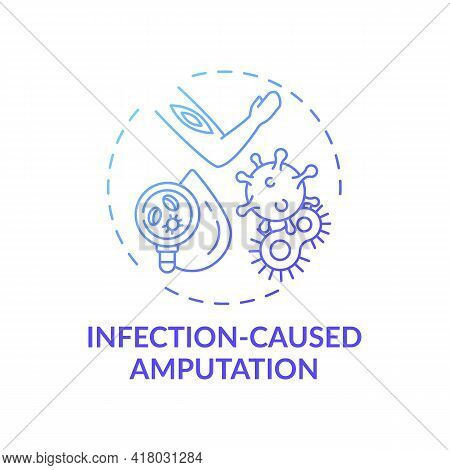 Infection-caused Amputation Concept Icon. Amputation Cause Idea Thin Line Illustration. Life-alterin