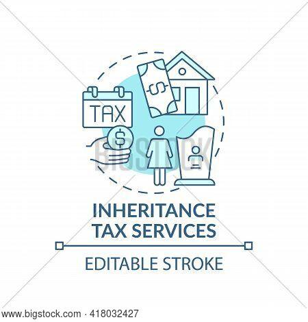 Inheritance Tax Services Concept Icon. Wealth Management Service Idea Thin Line Illustration. Leavin