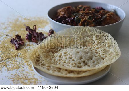 Hoppers Made With Foxtail Millets. An Experimental Version Of A Popular Kerala Dish Called Appam Ser