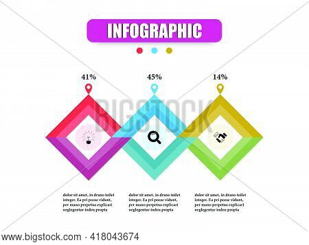 Quadrilateral Business Infographic Presentation Template 3 Options. Concept Planning Vector Design S