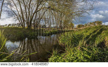 Impression From Gundwiesen Recreation Area Near Frankfurt In Germany