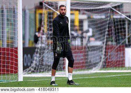 Milano, Italy. 18th April 2021. Gianluigi Donnarumma Of Ac Milan  During The Serie A Match Between A