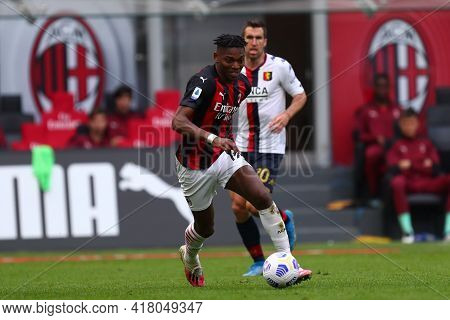Milano, Italy. 18th April 2021. Rafael Leao Of Ac Milan  During The Serie A Match Between Ac Milan A