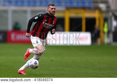 Milano, Italy. 18th April 2021. Ante Rebic Of Ac Milan  During The Serie A Match Between Ac Milan An