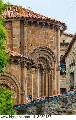 Colegiata Santillana Del Mar (cantabria - Spain). Romanesque Art Of The Twelfth Century. Santiago's