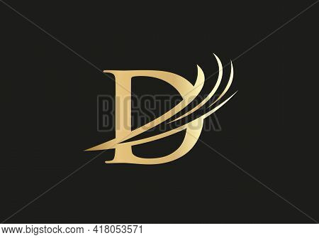 Modern And Minimal D Logo Design, D Letter Logo With Modern Trendy