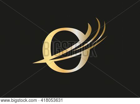 Creative O Letter With Luxury Concept. Modern O Logo Design For Business And Company Identity