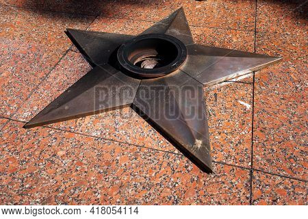 The Star Of The Hero Of The Second World War, The Memorial Eternal Flame Does Not Burn, The Workers