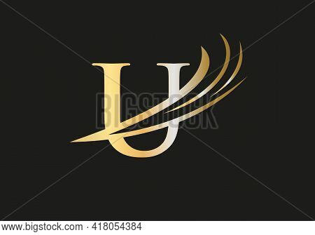 Modern U Logo Design For Business And Company Identity. Creative U Letter With Luxury Concept