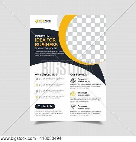 Corporate Flyer Design Template, Creative Business Trendy Flyer Template Design, Vector Template Fly