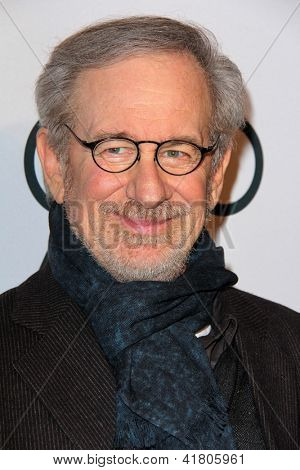 LOS ANGELES - FEB 4:  Steven Spielberg arrives at the Hollywood Reporter Celebrates the 85th Academy Awards Nominees event at the Spago on February 4, 2013 in Beverly Hills, CA