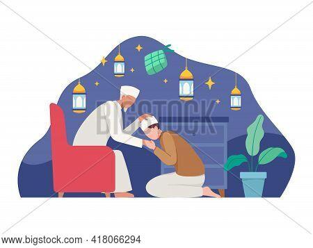 Muslim People Celebrating Eid Al-fitr
